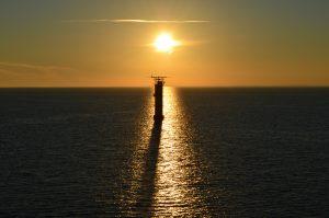 Helsingin majakka auringonlaskussa