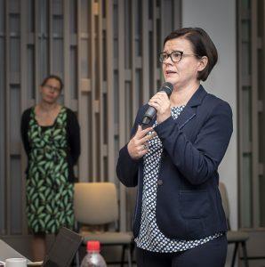 """Kristiina Mäkelä ja """"Lissu"""" Sainio yliopistopäivässä"""